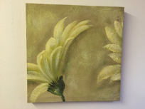 Natural Flower Art Oil Painting on Canvas Wall Decor A